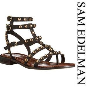 NEW! Sam Edelman Black LEATHER Sandals - 10